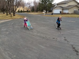 Stroller vs Scooter Races