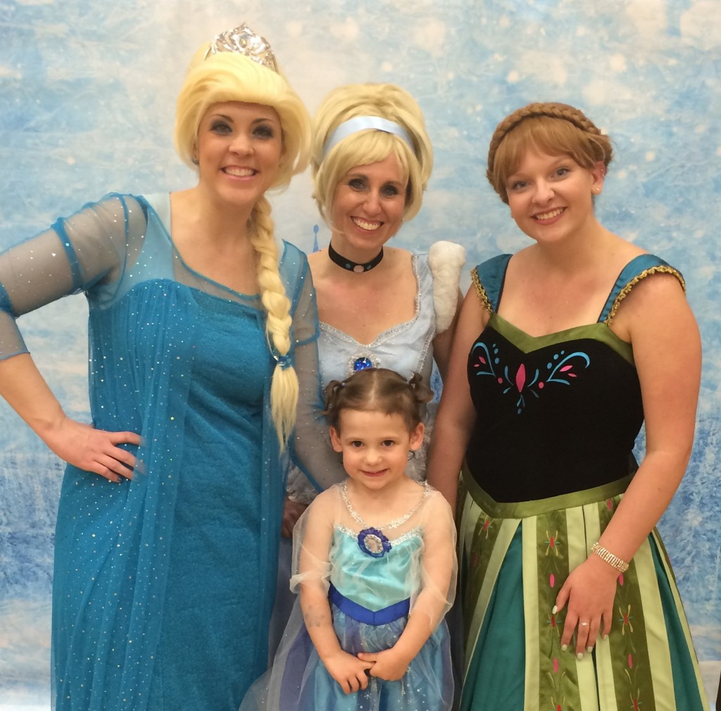 Madiana, Elsa, Anna, and Cinderella