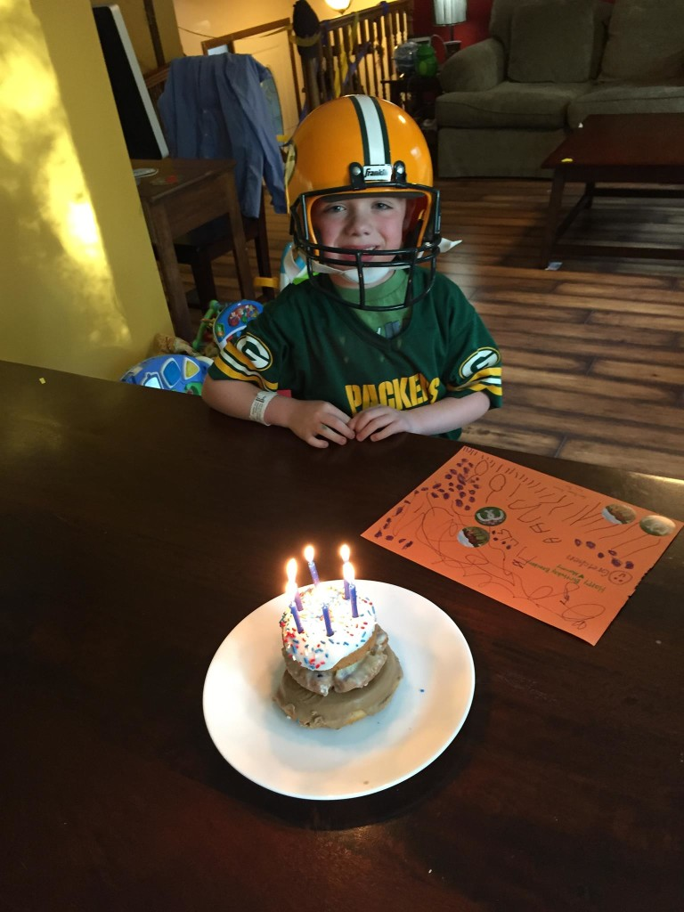 This spirited young man turned six today. He loves his baby sister, is loyal to his close friends, challenges his mama every day, and is as unique as they come. Happy birthday Brecken, we love you! And yes, he did wear the helmet to school..... Thank you sports day.
