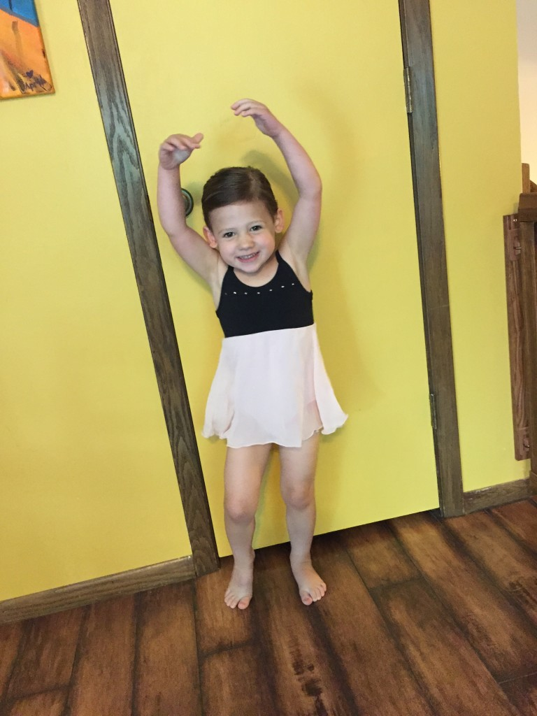 Madiana ready to go to Frozen Dance Camp