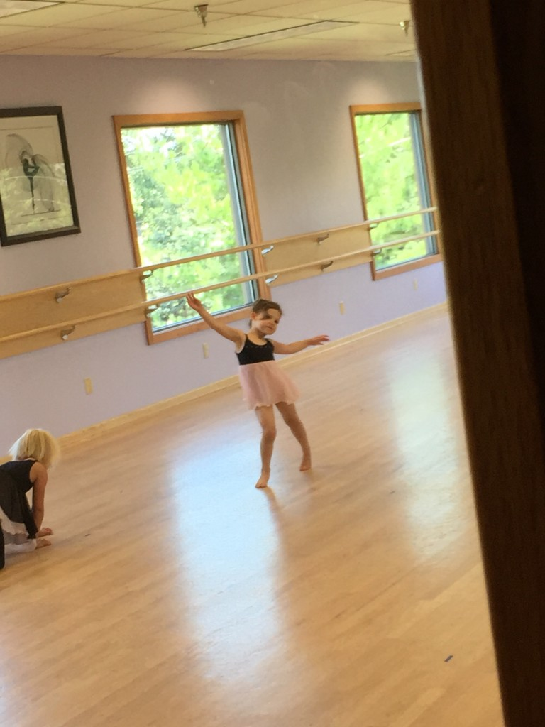 Madiana at Frozen Dance Camp Practicing