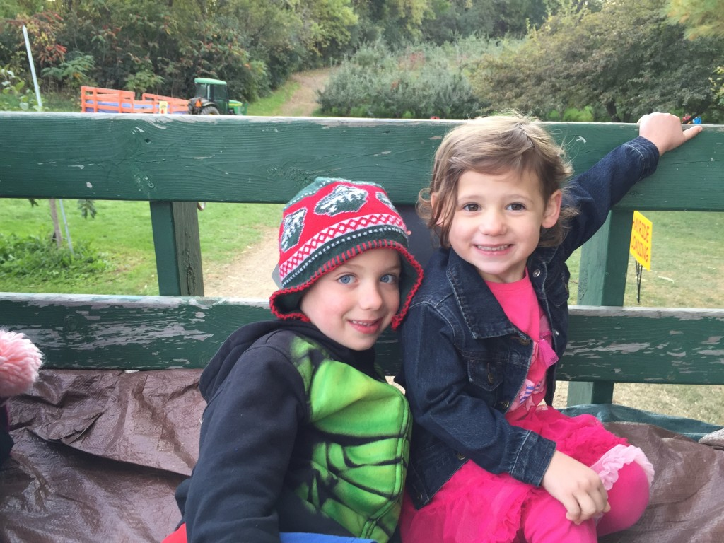 Brecken and Madiana on the hayride