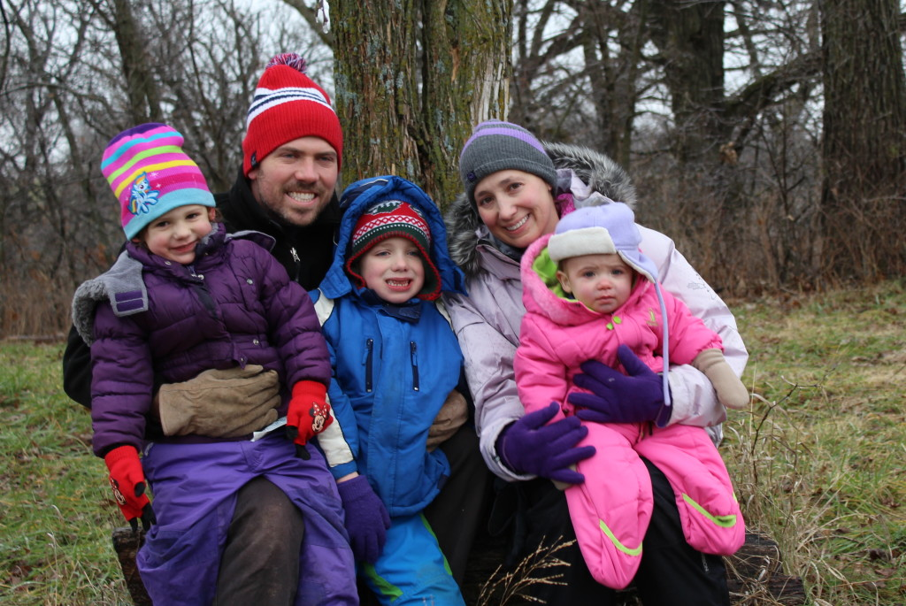 Madiana, Eric, Brecken, April, and Gretchen at the Tree Farm