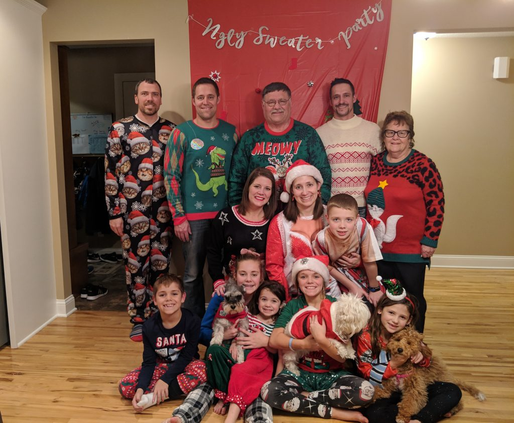2018 Ugly Sweater Gott Family Photo