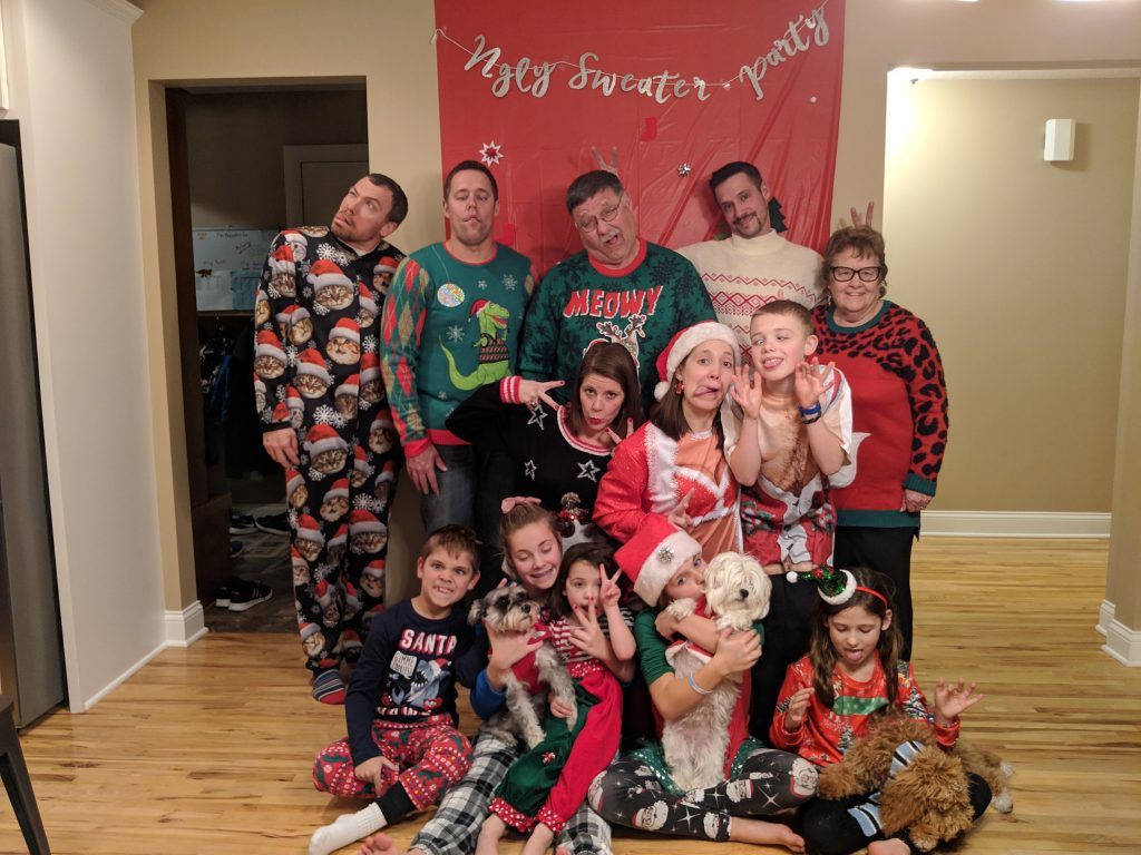 2018 Ugly Sweater Gott Family Photo Funny